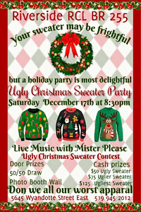 Riverside RCL  BR 255 Ugly Christmas Sweater Party Windsor Region Ontario image 1