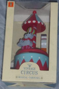 Orange Tree Toys Vintage Circus Musical Carousel