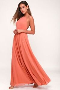 f43fca0d083f7 Lulus Mythical Kind of Love Rusty Rose Maxi Dress Size Small