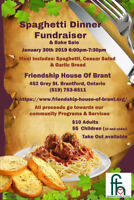 Spaghetti Dinner Fundraiser. and Bake sale