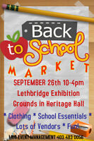 Lethbridge's BACK TO SCHOOL Market Fair