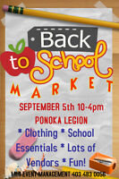 Ponoka's MEGA BACK TO SCHOOL Market