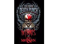 Five Finger Death Punch Ticket, 17th of December, Birmingham arena.