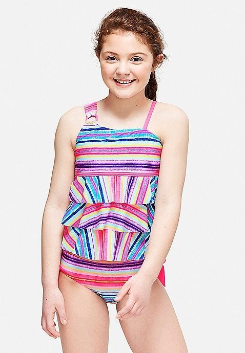 f2224dd1a9 ... Girls Justice 2 piece Tankini Swimsuit Size 8 10 12 14 16 18 NEW NWT ...