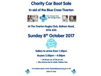 Car Boot Sale - sellers and buyers welcome - all entry fees go to charity - Tiverton