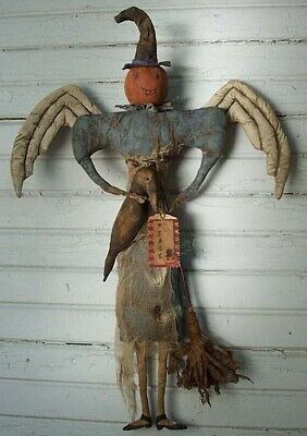 Fall Harvest Pumpkin Witch Angel Doll ~ PRIMITIVE Pattern](Pumpkin Pattern)