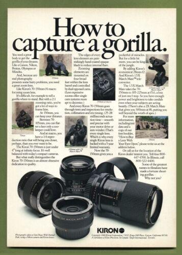Kiron Lens Color AD 1981 gorilla theme Original Vintage Advertisement