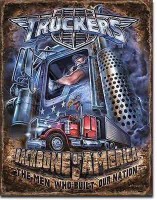 American Trucker USA LKW Fernfahrer Vintage Style Metall Schild