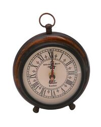 Antique Vintage Collectible Decor WOOD TABLE CLOCK TABLETOP replica
