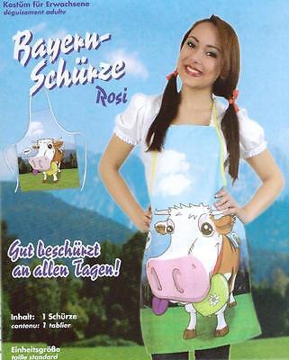 Bayern-Schürze Rosi die Kuh Kostüm Fasching Karneval Oktoberfest Grillschürze