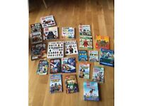 22 Lego books in a Lego Star Wars pull along case