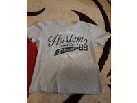 Boys Grey Harlem Rebels T Shirt age 3-4
