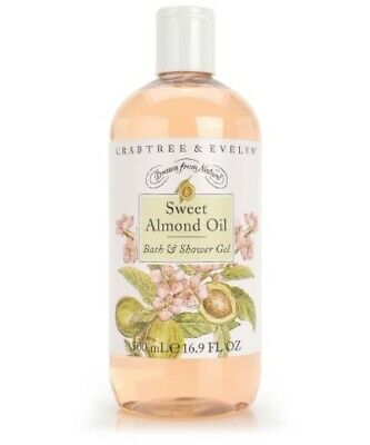 Crabtree and Evelyn Sweet Almond Oil Bath & Shower Gel Large 16.9 oz New! Almond Shower Gel