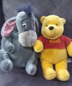 Winnie the Pooh and Eeyore. Ex cond ! From a smoke+pet free home. Collection only