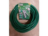 Hoselock 25mtr green hosepipe and FREE attachment set