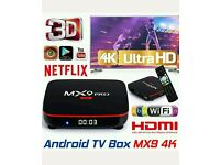ANDROID TV BOXS. BEST IN UK. HD 3D IPTV 4K