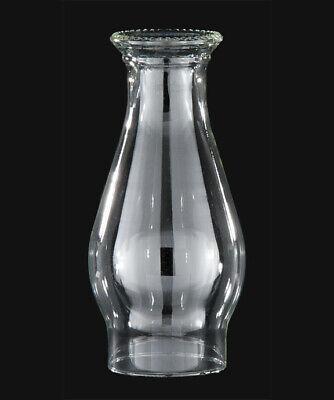 """3"""" X 8 1/4"""" CLEAR GLASS BEADED TOP KEROSENE OIL LAMP CHIMNEY NEW 57936JB"""