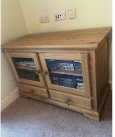 Solid oak TV/Media unit £30 ono