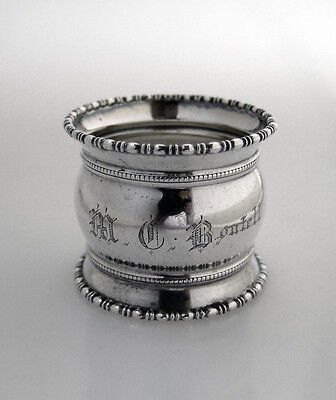 M C Boutell Napkin Ring Sterling Silver 1903