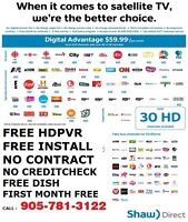 SHAW DIRECT TV / UNLIMITED ROGERS INTERNET
