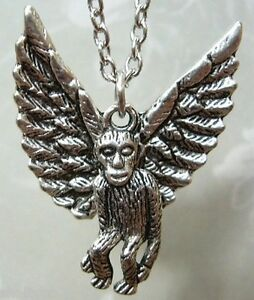 THE WIZARD OF OZ Inspired Flying Monkey Necklace Charm Pendant KiTsCh Steampunk