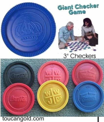 Checker Injection Mold, 3 Inch Checkers, 8 cavity