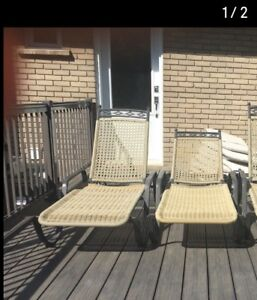 2 lounge chairs high quality wicker and iron