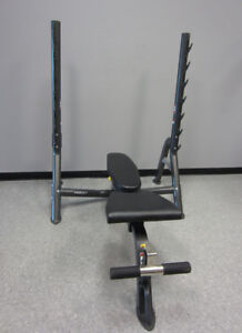 Hoist Olympic Fold Up Bench with Gun Rack no weights bar