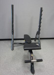 Hoist Olympic Fold Up Bench with Gun Rack no weights bar