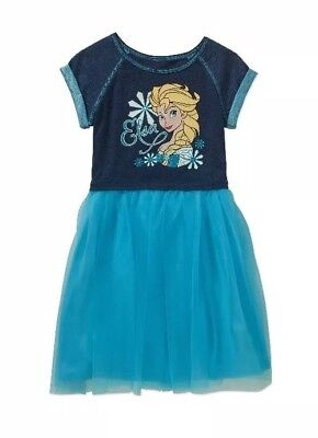 Frozen Dress For Little Girls (Disney Frozen Elsa Little Girls SS  Dress Size)
