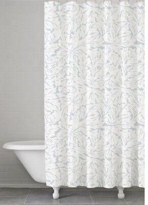 Kassatex Foglia Shower Curtain Floral Clearwater Blue New