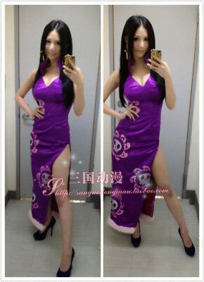 New Anime One piece Hancock Boa Sexy Cosplay Costume customize cheongsam (Boa Hancock Cosplay Kostüm)