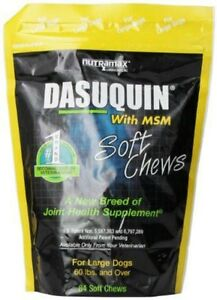 Dasuquin with MSM Soft Chew for Large Dogs 84 Chews by Nutramax