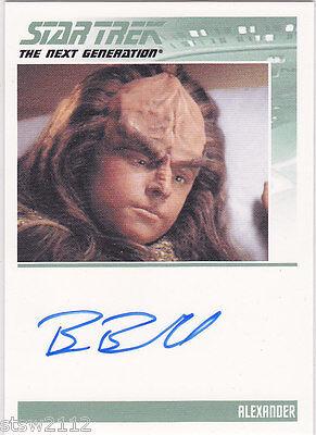 Star Trek Complete Next Generation Series 1 Brian Bonsall Alexander Autograph