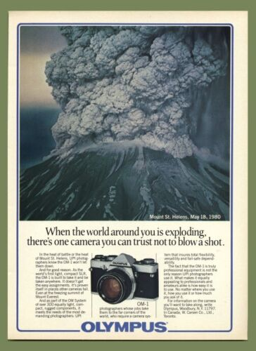 Olympus Color AD OM-1 OM-2, XA XA-2 & Lenses 1981 Mt. St. Helens Theme: 4 pages