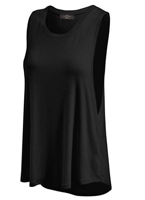 MBJ Womens Basic Wide Armhole Loose Fit Tank Top  Made in US