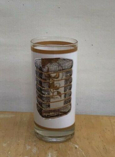 Vintage SEE THROUGH COTTON BOLL DRINKING GLASS Cotton Bale MCM