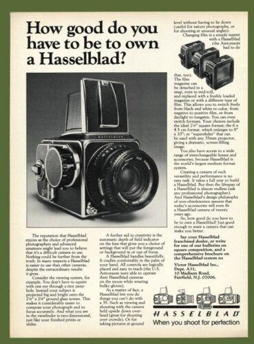 Hasselblad Camera AD 1981 Original Vintage Advertisement