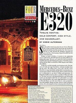 1996 Mercedes Benz E320 E-Class Original Car Review Print Article J621 - Mercedes Benz E320 Review