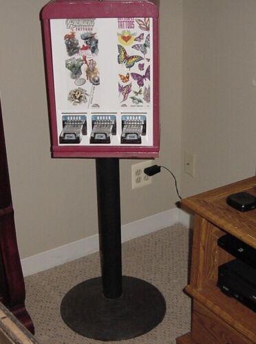 3 Column Tattoo / Sticker Vending Machine With Stand.