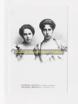 mm130 -Princesses sisters Victoria Melita & Beatrice grandaughters QV- photo 6x4