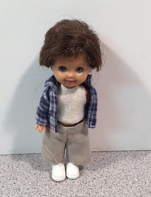 Barbie Happy Family Ryan Doll Tommy Friend Brown Hair Blue Eyes HTF