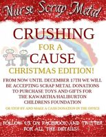 Crushing for a Cause Christmas Edition, now until December 17th