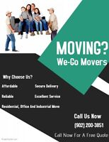 We-Go Movers $65/HR 2 movers/20ft or $90/HR 3 movers/26ft.