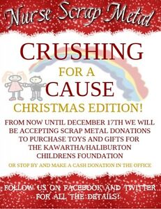 Crushing for a Cause Christmas Edition - now until December 17th Kawartha Lakes Peterborough Area image 1