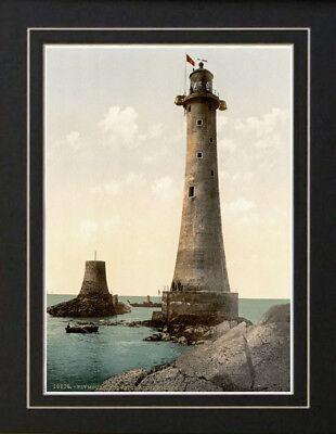 (Eddystone Lighthouse Plymouth England Photo Art Print)