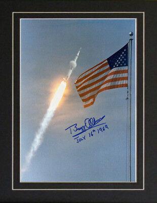 Apollo 11 Saturn V Rocket Buzz Aldrin Autographed Photo