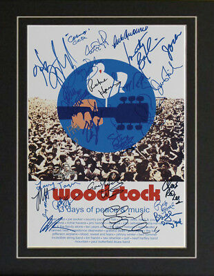 Wodstock Blood Sweat Tears Sha Na 28 Autographs Poster
