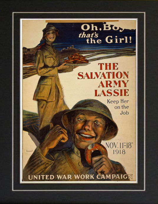 WWI Salvation Army Girl 1918 Recruitment Poster Print