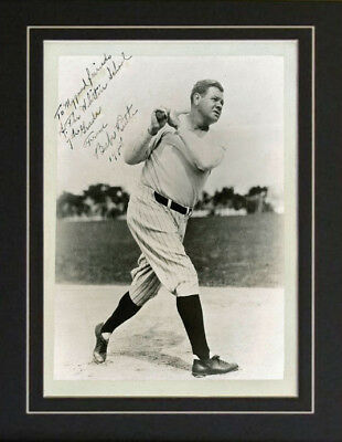 Babe Ruth Baseball Autograph Signed School Kids Photo